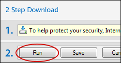 Click on save in the dialog box to start the download process